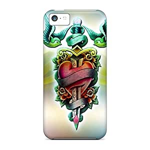 Top Quality Rugged Tattoo Case Cover For Iphone 5c