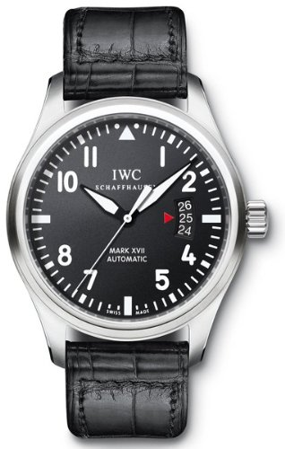 IWC 326501 - Reloj de pulsera hombre, piel, color negro
