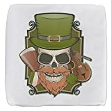 18 Inch 6-Sided Cube Ottoman St Patricks Irish Skull