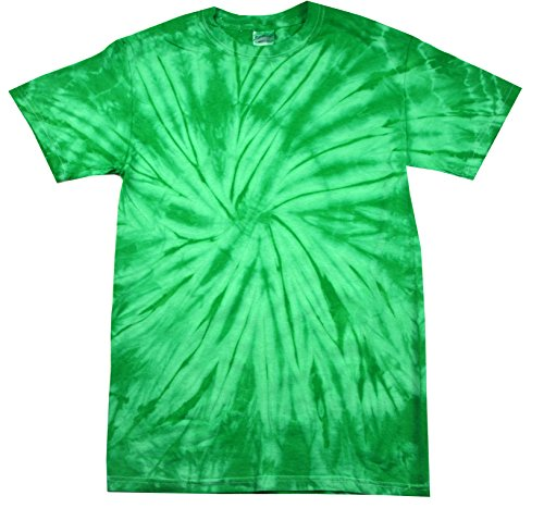 Colortone Tie Dye T-Shirt 2-4 (XSM) Spider Kelly -