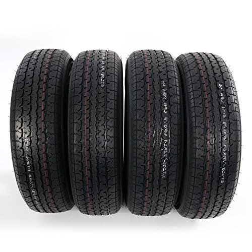 Set of 4 ST205/75R14 Radial Trailer Tires 6 Ply Load Range C 205 75 14 by Roadstar (Image #2)