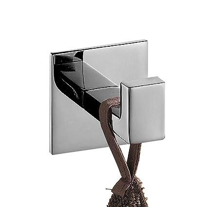 Gancho para toalla de baño cuadrado con gancho para colgar toallas SUS 304 de acero inoxidable