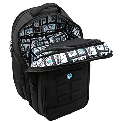 a4e8d49c9e1b 6 Pack Fitness Expedition Backpack W  Removable Meal Management System 500  Black Neon Blue