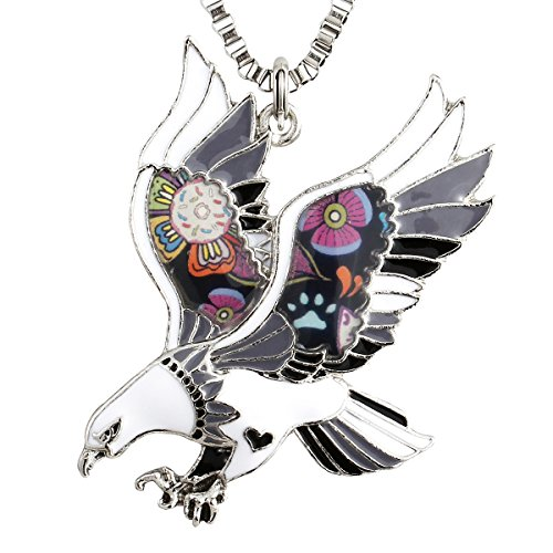- Luckeyui Black Eagle Necklaces & Pendants for Women Birthday Gifts Unique Colorful Hawk Charm Jewelry