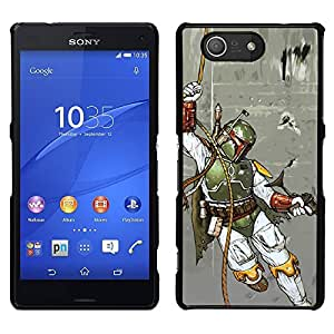 Impact Case Cover with Art Pattern Designs FOR Sony Xperia Z3 Compact Boba Fett - Hunter Betty shop