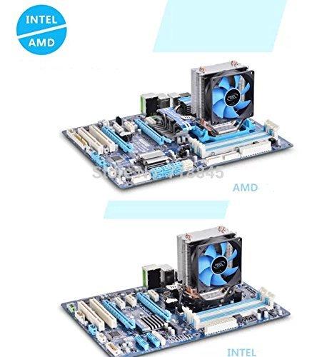 2 heatpipe Tower Side-Blown, CPU Cooler,2pcs 8025 Fan