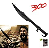 REAL HAND FORGED Leonidas 300 Spartan Sword FULL SIZE Carbon Steel Sharp Fixed Blade Knife Authentic BATTLE READY + Free eBook by SURVIVAL STEEL