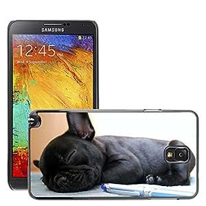 Etui Housse Coque de Protection Cover Rigide pour // M00134576 Perro Perros Bulldog Bulldog Francés // Samsung Galaxy Note 3 III N9000 N9002 N9005