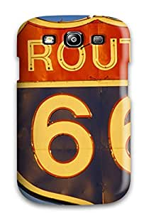 Defender Case With Nice Appearance (springfield Route 66 Sign Nature Other) For Galaxy S3