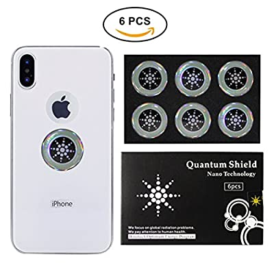 EMF Protection Shield Sticker Silver (6pc), Radiation Blocker for - Cell Phone/Laptop/Computer/Tablet/Wifi/Router/iPad - Radiation Protection For The Whole Family