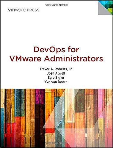 DevOps for VMware Administrators (Vmware Press Technology