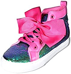 High Top Reversible Sequin Sneakers