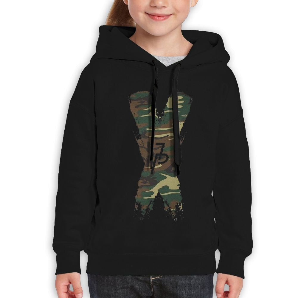 AnwenGP Pullover Jake Paul X Logo Fashion Personality Casual Camouflage Boys,Girls,Youth Custom Sweatshirt Pocket Hoodie L Black