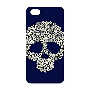 Skull Flowers 3D Phone Case for iPhone 5s