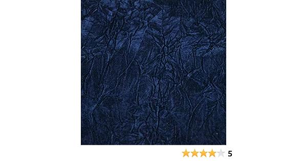 "1 Mètres Navy Blue Ice Crush Velvet Fabric .58 /""Wide-garnitures Coussins etc robe"