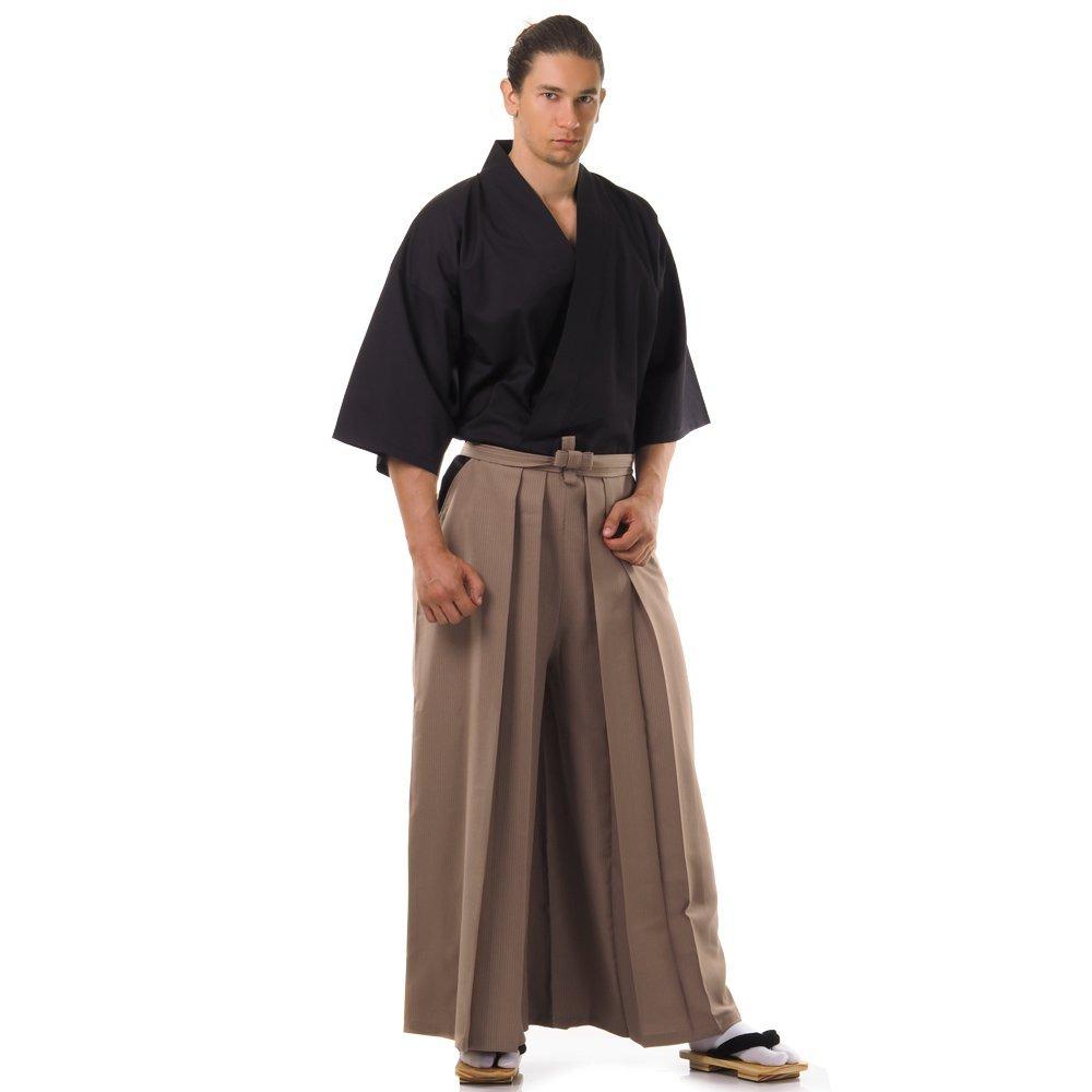 Kendo Gi & Hakama Laido Outfit Baumwolle One Size M L XL Beige & Schwarz HK20