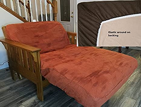 Amazon.com: OctoRose Twin Size Elastic Around on Backing Bonded Micro Suede Easy Fit Fitted Daybed Futon Cover (Beige): Home & Kitchen