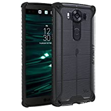 Poetic Cases Affinity Slim Fit Dual Material Protective Bumper Case for LG V10 Black/Clear