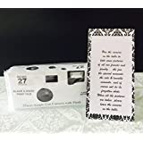 5 Pack of Black and White Film Disposable 35mm Cameras, 27 Exposures each, Use for Wedding, Shower, Party or Event
