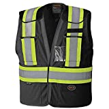 Pioneer Adjustable Reflective Mesh Safety Vest, Black, L/XL, V1021470-L/XL