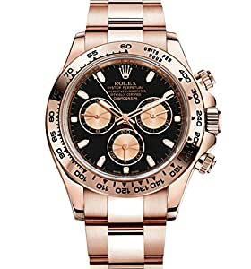 Rolex Daytona Everose Gold Watch With Black Dial 116505 Unworn 2016