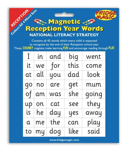 national literacy strategy magnetic words for reception year key