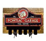 Licensed Pontiac Full Service Key Hanger Holder w/ Wooden Backing