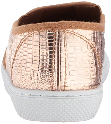 Qupid Dames Roxbury-02 Fashion Sneaker Rose Goud Glanzende Hagedis