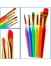 CHOUREN 6PCs Colorful DIY Paint Brushes Nail Brush Artist Supplies For Kids Children