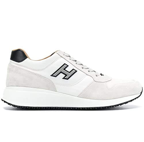 Hogan Scarpe Uomo Interactive N20 Sneaker H Flock HXM2460K670IGH1353 Bianco  (42.5 EU - 8.5 UK 0377b576f5c