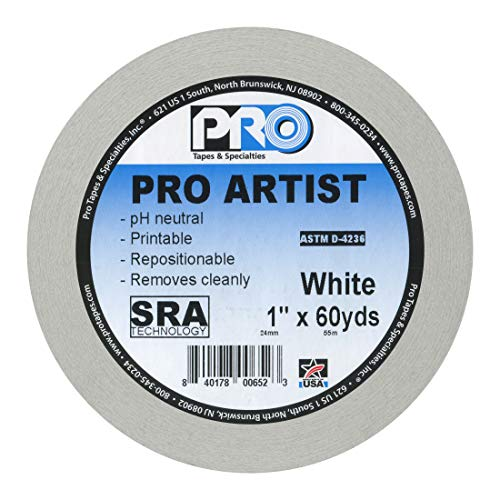 Console Tape - ProTapes Artist Tape Flatback Printable Paper Board  or Console Tape, 60 yds Length x 1