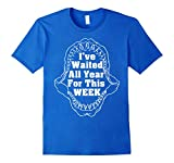 Mens Shark Teeth T-Shirt - I've Waited All Year For This Week XL Royal Blue