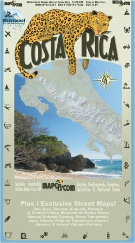 Costa Rica: Waterproof Travel Map of Costa Rica by Toucan Maps (2008-02-01)