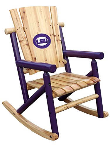 Leigh Country TX 93610 Aspen Single Rock Chair with Tiger Medallion ()