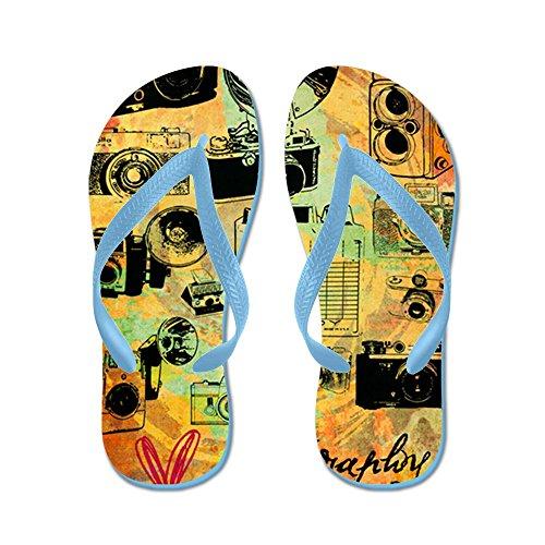 CafePress Hg-8X10-Lovephotography - Flip Flops, Funny Thong Sandals, Beach Sandals Caribbean Blue
