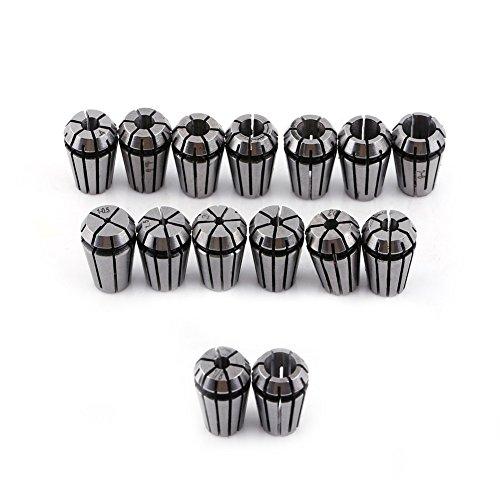 15pcs ER11 Spring Collet Set for CNC Engraving Machine & Milling Lathe Tool - 2