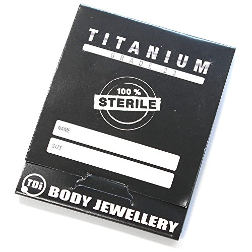 Bijoux de corps en titane stériles stériles pouch. Micro Barbell en titane Miroir Polish. Calibre 1,2 mm 8 mm Boules 3 mm.