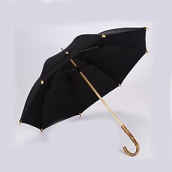 WAWZJ Paraguas High End Larga Hombre Mujer Paraguas Paraguas De Bambú De Caballero Inglés Es Retro