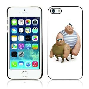 CQ Tech Phone Accessory: Carcasa Trasera Rigida Aluminio PARA Apple iPhone 5 5S - Funny Sailor Men