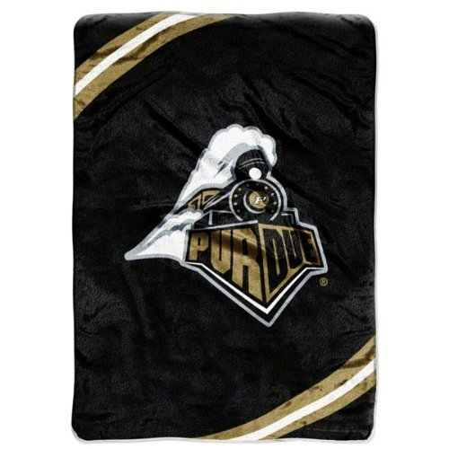 NCAA Purdue Boilermakers Force Royal Plush Raschel Throw Blanket, - Boilermakers Plush Ncaa Purdue