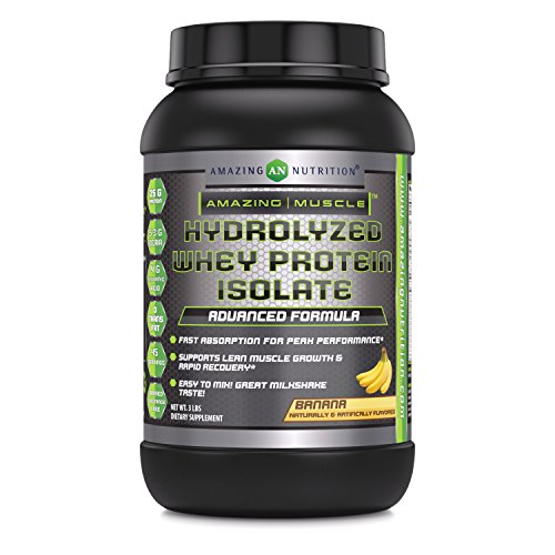 Amazing Muscle Ultra Pure Hydrolyzed Whey Protein Isolate * Supports Lean Muscle Growth & Rapid Recovery (Banana)