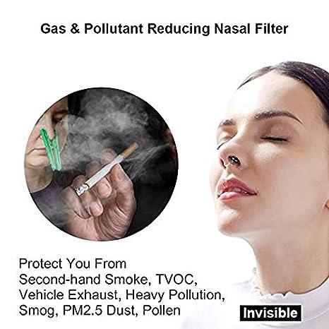 Purificatore daria Maschera Anti-smog COVT Gas Fumo Passivo Composti Organici Volatili Antipolvere Antipolline Filtra Smog WoodyKnows Filtri Nasali Antismog Polveri Sottili