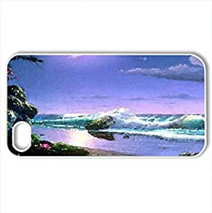 a place called paradise - Case Cover for iPhone 4 and 4s (Watercolor style, White)