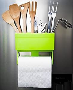 Kitchen Space Saver Organiser Shelf Storage Magnetic Fridge Rack Paper Towel Roll Holder
