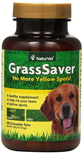 NaturVet GrassSaver for Dogs, 250 ct Soft Chews , Made in (Soft Chew Tablets)