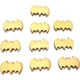 Craftistics (10 Pack) Small Wooden Bats, Do-it-Yourself (DIY) Craft Supply