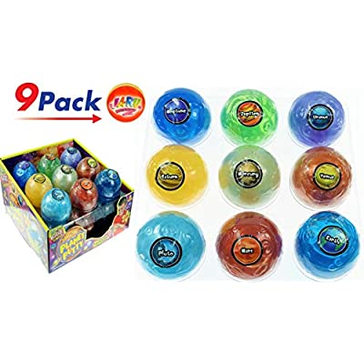 Planet Putty Galaxy Solar System Stress Slime (Pack of Planets Assorted) by JA-RU. Metallic Colors Science Game Party Favors Toys for Girls & Boys. 5459-9p: Office Products