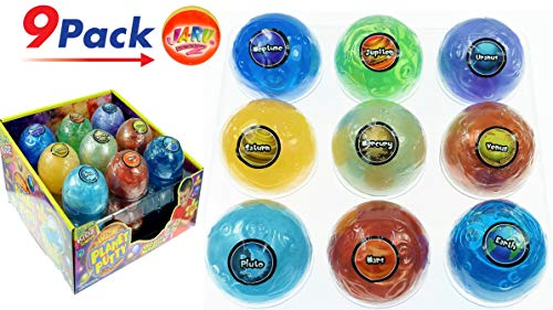 (Planet Putty (Pack of 9 Planets) by 2CHILL. Has a Slimy/Gooey Texture and Swirly Colors Like The Planets! Fun Educational Science Toy. JA-RU. 5459-9)