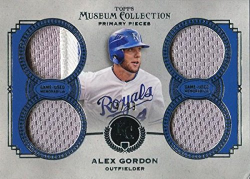 Unsigned Jersey Collection (Alex Gordon Unsigned 2013 Topps Museum Collection Jersey Card - Baseball Game Used Cards)