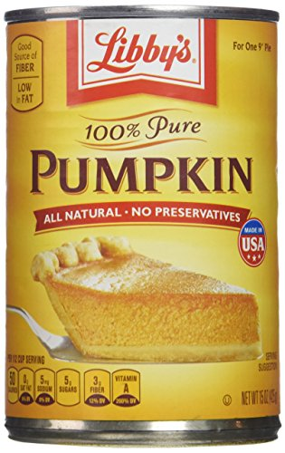 (Libby's 100% Pure Pumpkin, 15 oz Cans (Pack of)